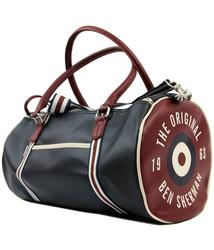 ben sherman retro 1960s mod target barrel bag navy