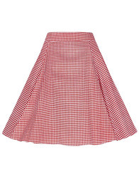 Collectif Retro 50s Vintage Gingham Swing Skirt