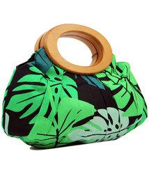 collectif retro 1970s leaf wooden handle handbag