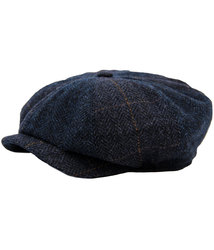 gibson london retro herringbone check gatsby cap
