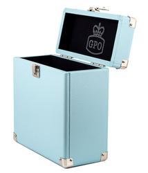 GPO RETRO RECORD BOX 7 INCH VINYL BOX BLUE