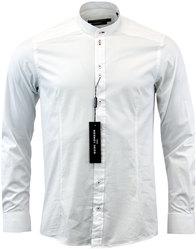 guide london retro 1960s mod grandad shirt white