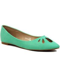 lulu hun lidia retro mod cutout flat shoes mint