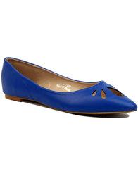 lulu hun lidia retro mod cutout flat shoes royal
