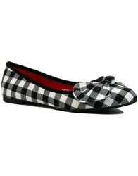 lulu hun naomi retro 1960s mod gingham flat shoes
