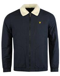 lyle and scott retro mod shearling bomber jacket