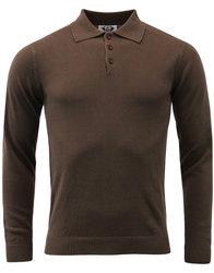 madcap england brando retro mod knitted polo brown