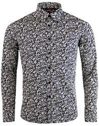 madcap england trip floral retro 1960s mod shirt