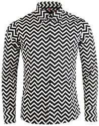 madcap england zig zag trip retro 1960s mod shirt