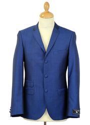 MADCAP ENGLAND MOD SUIT BRIGHT BLUE TONIC MOHAIR