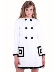 Marmalade Retro Sixties Mod 60s White Coat
