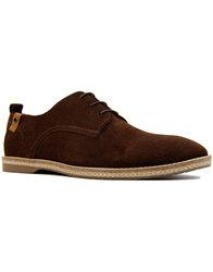 paolo vandini ramsey retro mod suede shoes brown