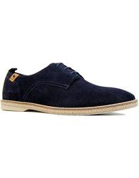 paolo vandini ramsey retro mod suede shoes navy