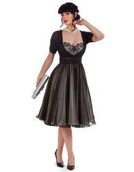 TATYANA RETRO VINTAGE 50s TEMPEST STORM CAFE DRESS