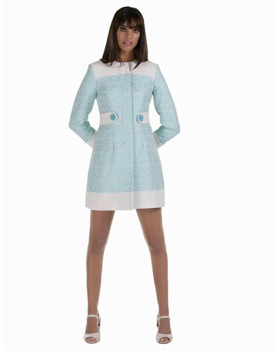 MARMALADE Retro Mod Art Deco Sixties Fitted Coat