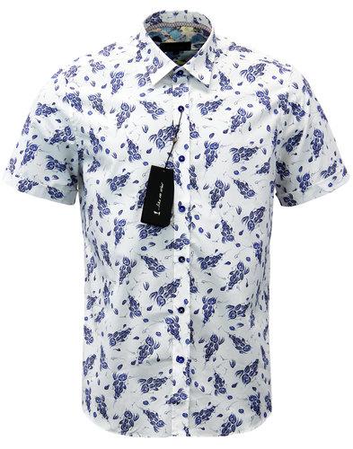 1 like no other barnet retro mod floral ss shirt