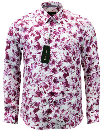 1 like no other franz mod watercolour floral shirt