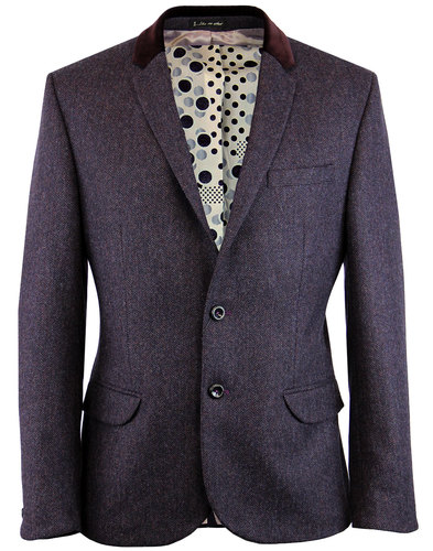 1 like no other grout retro mod herringbone blazer