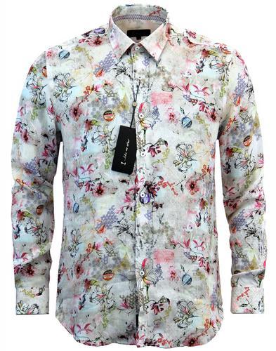 1 like no other hanakotoba mod floral linen shirt