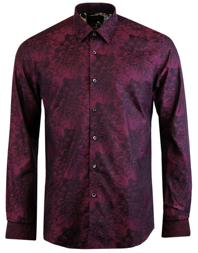 1 like no other kerf retro mod dahlia floral shirt