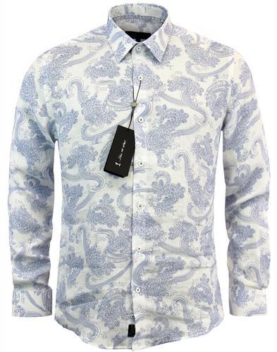 1 like no other kuroba japanese wave linen shirt