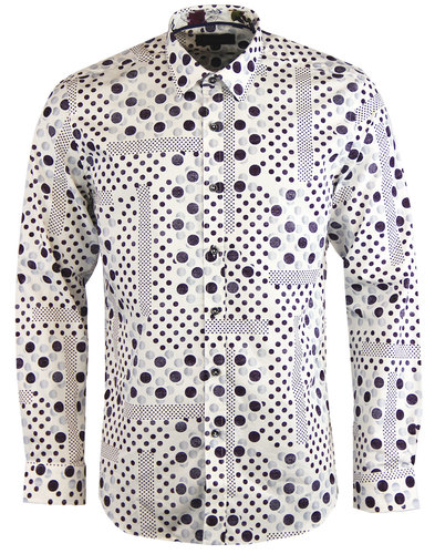 1 like no other titen retro mod polka dot shirt
