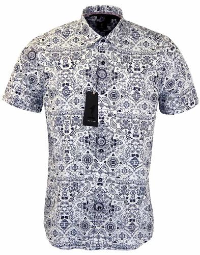 1 LIKE NO OTHER BLUE PAISLEY BANDANA SHIRT