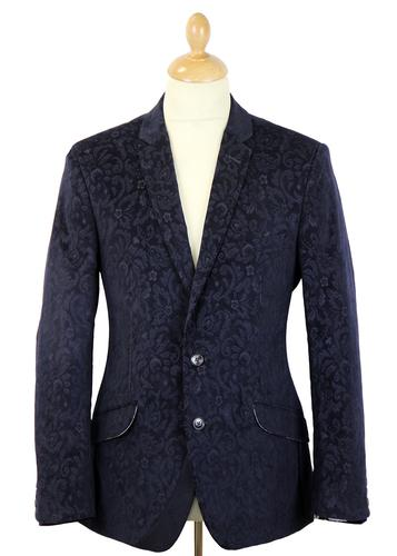 Phoebus 1 LIKE NO OTHER Retro Jacquard Cord Blazer