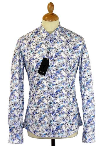 Hand Drawn Floral 1 LIKE NO OTHER Retro Mod Shirt