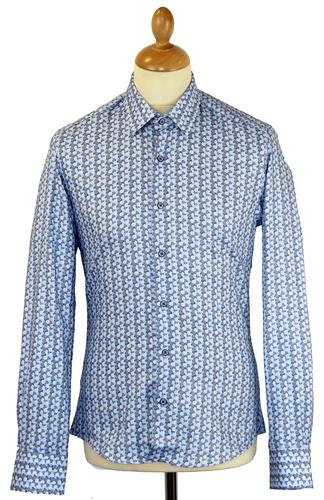 Pointillism 1 LIKE NO OTHER Retro Mod Geo Shirt