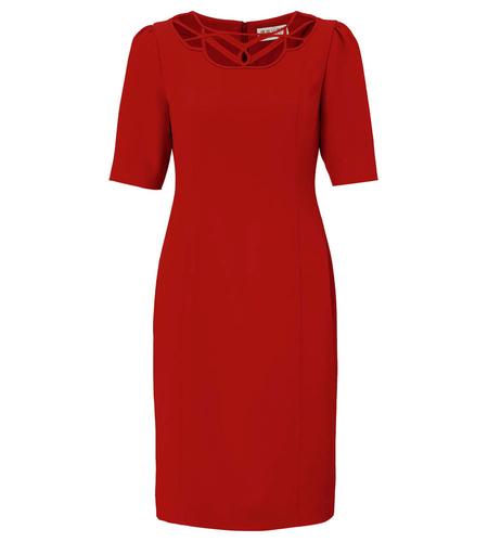 FEVER DRESSES RETRO 40s VINTAGE DRESS FRANCES RED
