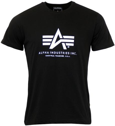 ALPHA INDUSTRIES RETRO MOD LOGO T-SHIRT BLACK