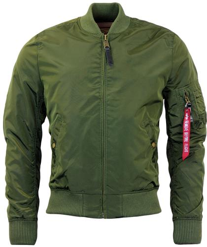 ALPHA INDUSTRIES MA1 TT RETRO MOD BOMBER JACKET DG