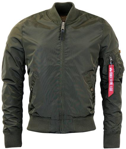 ALPHA INDUSTRIES MA1 TT RETRO MOD BOMBER JACKET RG