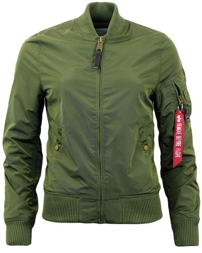 ALPHA INDUSTRIES MA1 TT WOMENS BOMBER JACKET DG