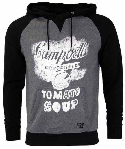Pauls ANDY WARHOL Campbells Soup Pop Art Hoodie