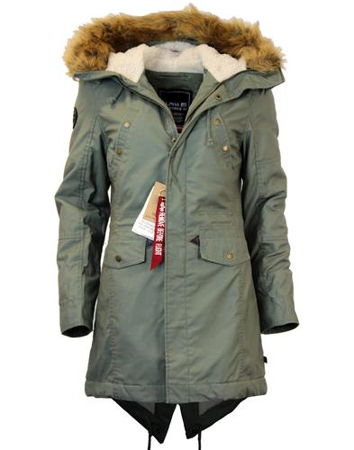 ALPHA INDUSTRIES HOODED FISHTAIL RETRO PARKA