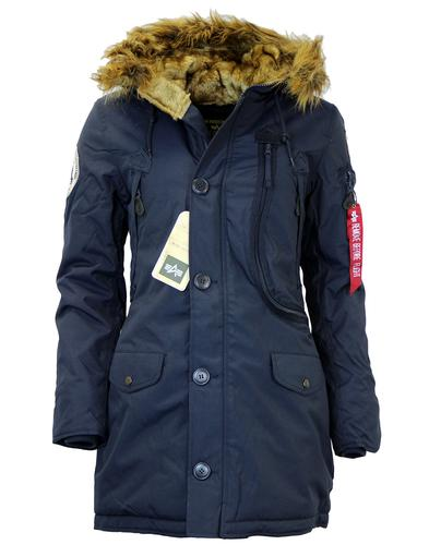 ALPHA INDUSTRIES POLAR RETRO MOD PARKA BLUE