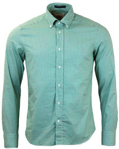 Dexter B D BAGGIES Retro Mod 60s Gingham Shirt