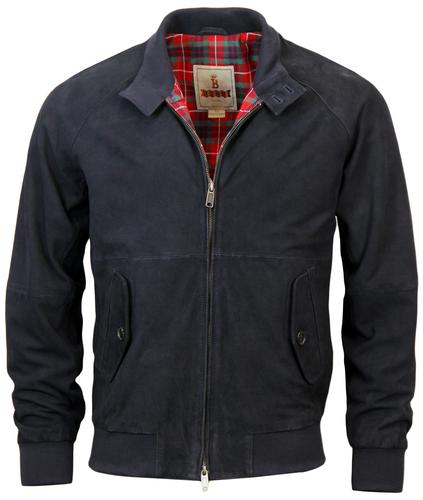 BARACTUA RETRO G9 SUEDE HARRINGTON MARINE