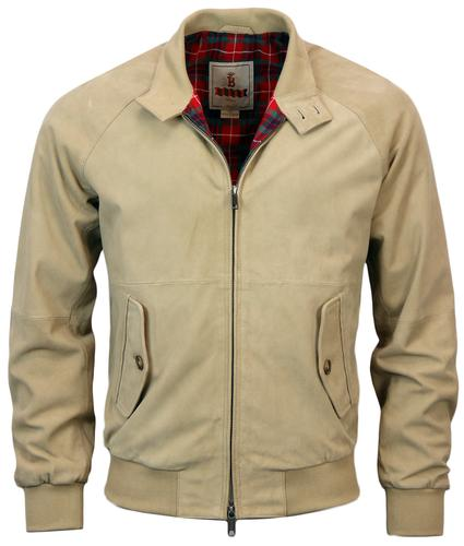 BARACTUA RETRO G9 SUEDE HARRINGTON SAND