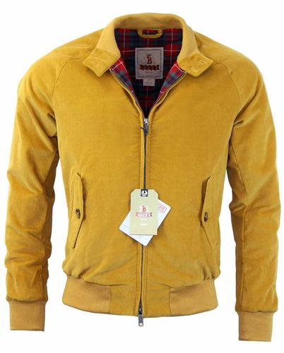 BARACUTA G9 CORD HARRINGTON RETRO JACKET GOLD