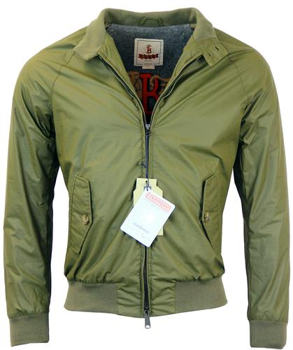 BARACUTA G9 WAX PADDED RETRO HARRINGTON OLIVE