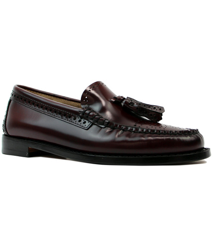 BASS WEEJUNS ESTELLE RETRO MOD 60S BROGUE LOAFERS
