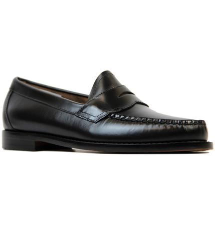 BASS WEEJUNS LOGAN RETRO MOD LOAFERS BLACK