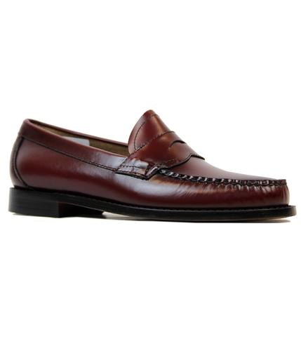 BASS WEEJUNS LOGAN RETRO MOD LOAFERS WINE