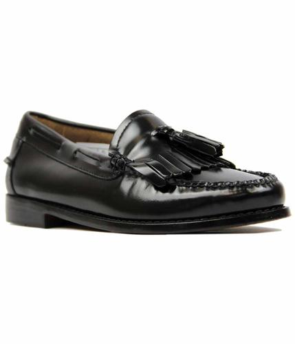 ESTHER BASS WEEJUNS RETRO LOAFERS BLACK