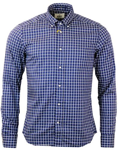 B D BAGGIES DEXTER RETRO MOD CHECK SHIRT BLUE