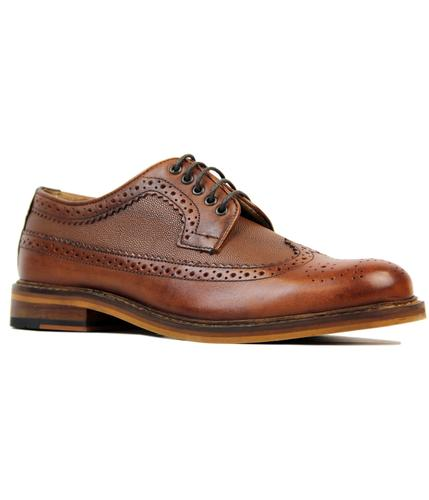 BEN SHERMAN DEON RETRO MOD LONGWING BROGUES TAN