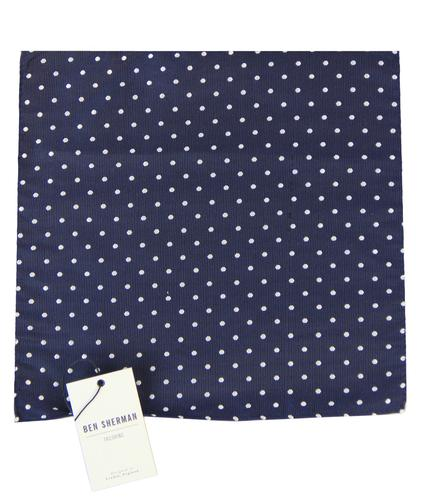 BEN SHERMAN TAILORING POLKA DOT POCKET SQUARE
